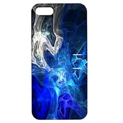 Ghost Fractal Texture Skull Ghostly White Blue Light Abstract Apple iPhone 5 Hardshell Case with Stand