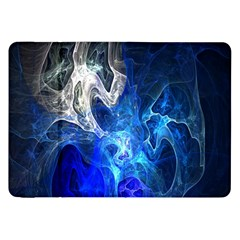 Ghost Fractal Texture Skull Ghostly White Blue Light Abstract Samsung Galaxy Tab 8.9  P7300 Flip Case