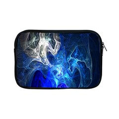 Ghost Fractal Texture Skull Ghostly White Blue Light Abstract Apple iPad Mini Zipper Cases