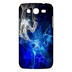Ghost Fractal Texture Skull Ghostly White Blue Light Abstract Samsung Galaxy Mega 5.8 I9152 Hardshell Case