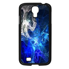 Ghost Fractal Texture Skull Ghostly White Blue Light Abstract Samsung Galaxy S4 I9500/ I9505 Case (black)
