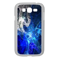 Ghost Fractal Texture Skull Ghostly White Blue Light Abstract Samsung Galaxy Grand DUOS I9082 Case (White)