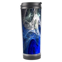 Ghost Fractal Texture Skull Ghostly White Blue Light Abstract Travel Tumbler