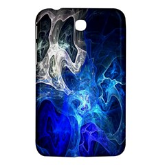 Ghost Fractal Texture Skull Ghostly White Blue Light Abstract Samsung Galaxy Tab 3 (7 ) P3200 Hardshell Case