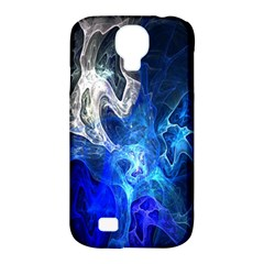Ghost Fractal Texture Skull Ghostly White Blue Light Abstract Samsung Galaxy S4 Classic Hardshell Case (pc+silicone)