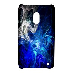 Ghost Fractal Texture Skull Ghostly White Blue Light Abstract Nokia Lumia 620