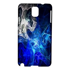 Ghost Fractal Texture Skull Ghostly White Blue Light Abstract Samsung Galaxy Note 3 N9005 Hardshell Case