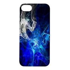 Ghost Fractal Texture Skull Ghostly White Blue Light Abstract Apple iPhone 5S/ SE Hardshell Case