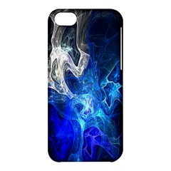 Ghost Fractal Texture Skull Ghostly White Blue Light Abstract Apple iPhone 5C Hardshell Case