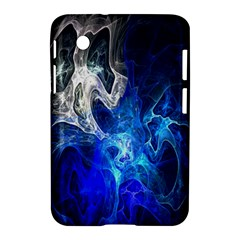 Ghost Fractal Texture Skull Ghostly White Blue Light Abstract Samsung Galaxy Tab 2 (7 ) P3100 Hardshell Case