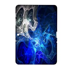 Ghost Fractal Texture Skull Ghostly White Blue Light Abstract Samsung Galaxy Tab 2 (10.1 ) P5100 Hardshell Case