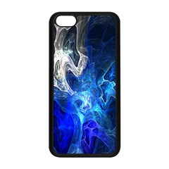 Ghost Fractal Texture Skull Ghostly White Blue Light Abstract Apple iPhone 5C Seamless Case (Black)