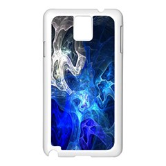 Ghost Fractal Texture Skull Ghostly White Blue Light Abstract Samsung Galaxy Note 3 N9005 Case (White)