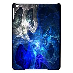 Ghost Fractal Texture Skull Ghostly White Blue Light Abstract iPad Air Hardshell Cases