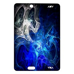 Ghost Fractal Texture Skull Ghostly White Blue Light Abstract Amazon Kindle Fire HD (2013) Hardshell Case