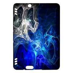 Ghost Fractal Texture Skull Ghostly White Blue Light Abstract Kindle Fire HDX Hardshell Case