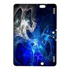 Ghost Fractal Texture Skull Ghostly White Blue Light Abstract Kindle Fire Hdx 8 9  Hardshell Case