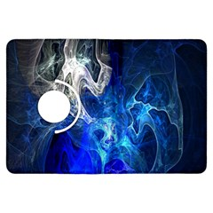 Ghost Fractal Texture Skull Ghostly White Blue Light Abstract Kindle Fire HDX Flip 360 Case