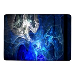 Ghost Fractal Texture Skull Ghostly White Blue Light Abstract Samsung Galaxy Tab Pro 10.1  Flip Case