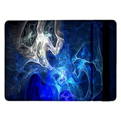 Ghost Fractal Texture Skull Ghostly White Blue Light Abstract Samsung Galaxy Tab Pro 12.2  Flip Case