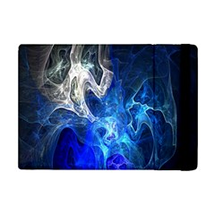 Ghost Fractal Texture Skull Ghostly White Blue Light Abstract iPad Mini 2 Flip Cases