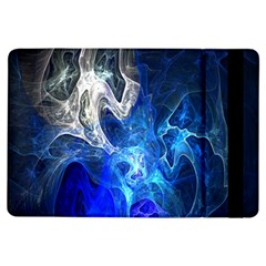 Ghost Fractal Texture Skull Ghostly White Blue Light Abstract iPad Air Flip