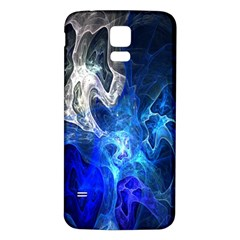 Ghost Fractal Texture Skull Ghostly White Blue Light Abstract Samsung Galaxy S5 Back Case (White)