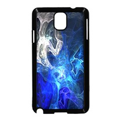 Ghost Fractal Texture Skull Ghostly White Blue Light Abstract Samsung Galaxy Note 3 Neo Hardshell Case (Black)