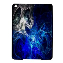 Ghost Fractal Texture Skull Ghostly White Blue Light Abstract iPad Air 2 Hardshell Cases