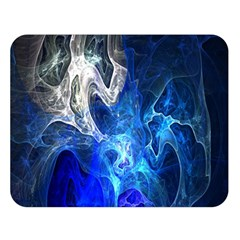 Ghost Fractal Texture Skull Ghostly White Blue Light Abstract Double Sided Flano Blanket (Large)
