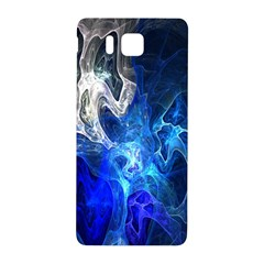 Ghost Fractal Texture Skull Ghostly White Blue Light Abstract Samsung Galaxy Alpha Hardshell Back Case
