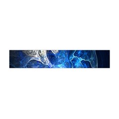 Ghost Fractal Texture Skull Ghostly White Blue Light Abstract Flano Scarf (Mini)