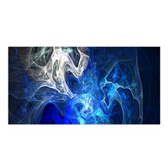 Ghost Fractal Texture Skull Ghostly White Blue Light Abstract Satin Shawl