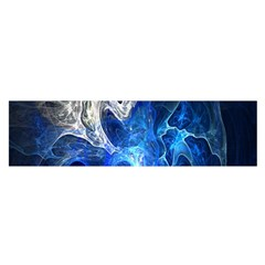 Ghost Fractal Texture Skull Ghostly White Blue Light Abstract Satin Scarf (oblong)
