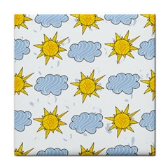 Sunshine Tech White Tile Coasters