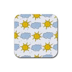 Sunshine Tech White Rubber Coaster (Square)