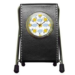 Sunshine Tech White Pen Holder Desk Clocks