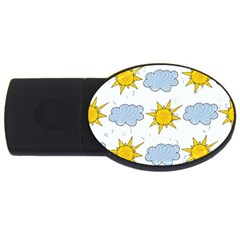 Sunshine Tech White Usb Flash Drive Oval (4 Gb)