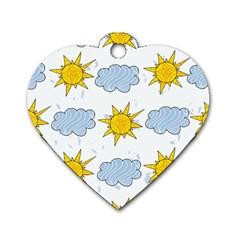 Sunshine Tech White Dog Tag Heart (one Side)
