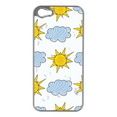 Sunshine Tech White Apple iPhone 5 Case (Silver)