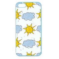 Sunshine Tech White Apple Seamless iPhone 5 Case (Color)