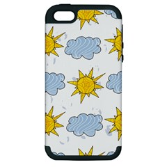 Sunshine Tech White Apple iPhone 5 Hardshell Case (PC+Silicone)