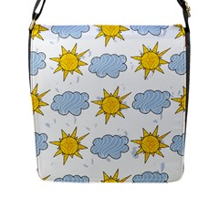 Sunshine Tech White Flap Messenger Bag (l)