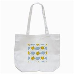 Sunshine Tech White Tote Bag (White)