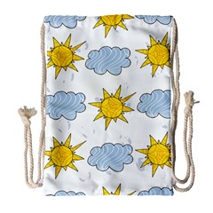 Sunshine Tech White Drawstring Bag (large)