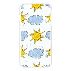 Sunshine Tech White Apple Seamless iPhone 6 Plus/6S Plus Case (Transparent)