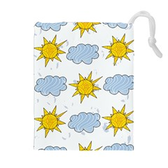 Sunshine Tech White Drawstring Pouches (extra Large)