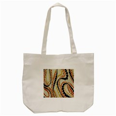Polka Dot Texture Fabric 70s Orange Swirl Cloth Pattern Tote Bag (Cream)