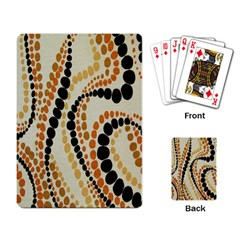 Polka Dot Texture Fabric 70s Orange Swirl Cloth Pattern Playing Card