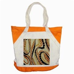 Polka Dot Texture Fabric 70s Orange Swirl Cloth Pattern Accent Tote Bag